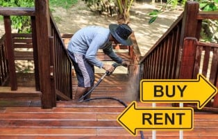 Buy or rent a pressure washer