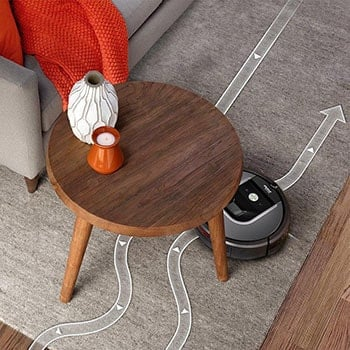 Roomba is a smart robot vacuum cleaner with Wi-Fi control via smartphone, Alexa or Google Assistant