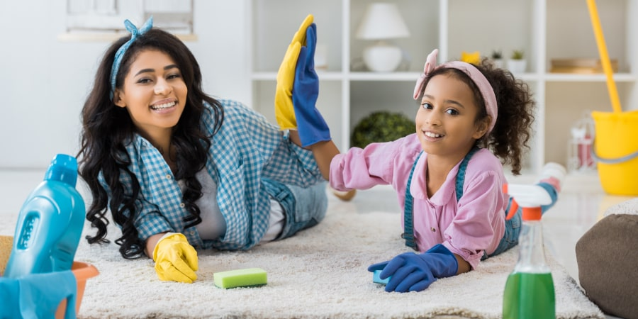 Kids still be taught how to use traditional cleaning equipment