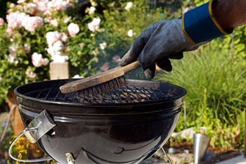 You should prepare your BBQ grill for cleaning by the Pressure Washer first