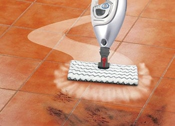 Steam Mop is good at loosen up sticky things and dirt