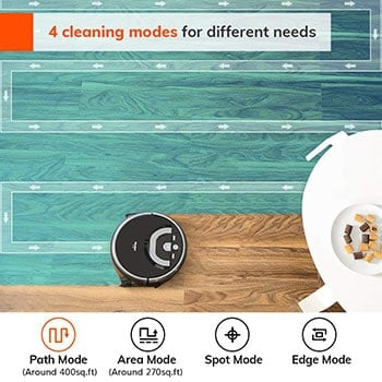 There are 4 cleaning modes.