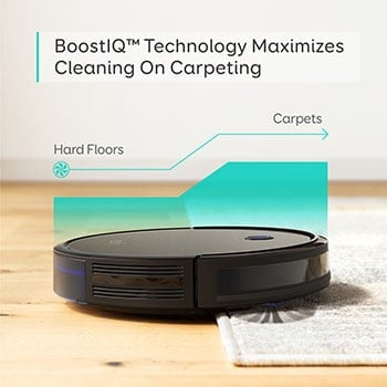 BoostIQ allows to auto-adjust suction power depending on the floor type