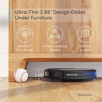 RoboVac 11S is a powerfull and quiet robotic vacuum cleaner