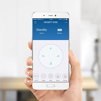 In the Ecovacs app, you can do all the things, including choosing vacuum power.