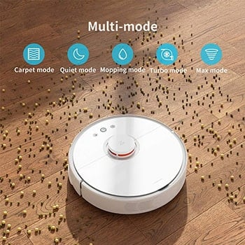 The S5 model has a mopping mode as well as several vacuum cleaning modes.