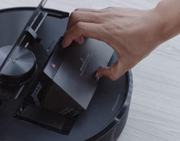 Maintenance is very easy for the Roborock S6 model.