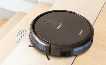 Robot vacuums can't go up or down stairs.