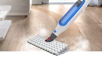 Steam mop on laminate.