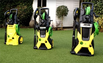 3 electric power washer models from the Karcher