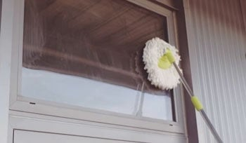 Spin mop could be used for cleaning windows and doors too