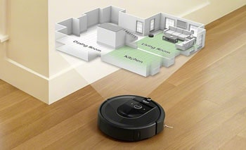 The biggest efficiency gain is due to robotic vacuums started to store the maps.