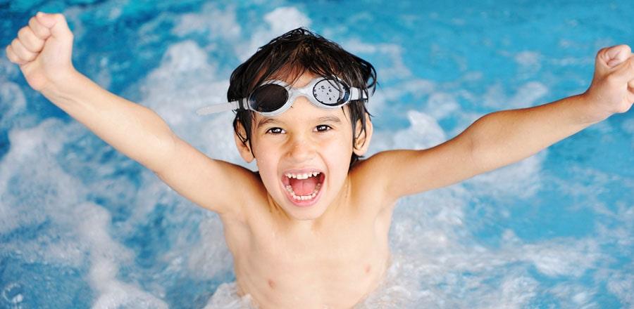 Boy in a pool