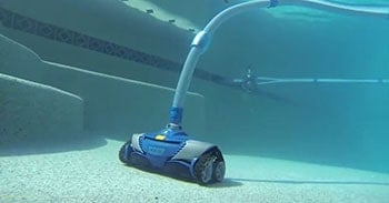 Suction side pool cleaner at work.