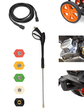 Features of the PW3100 power washer.