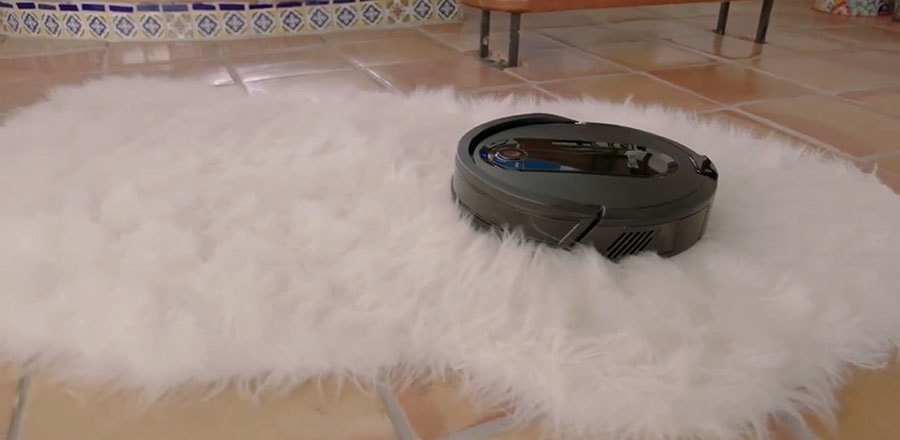 Shark IQ Robot XL on a thick carpet.