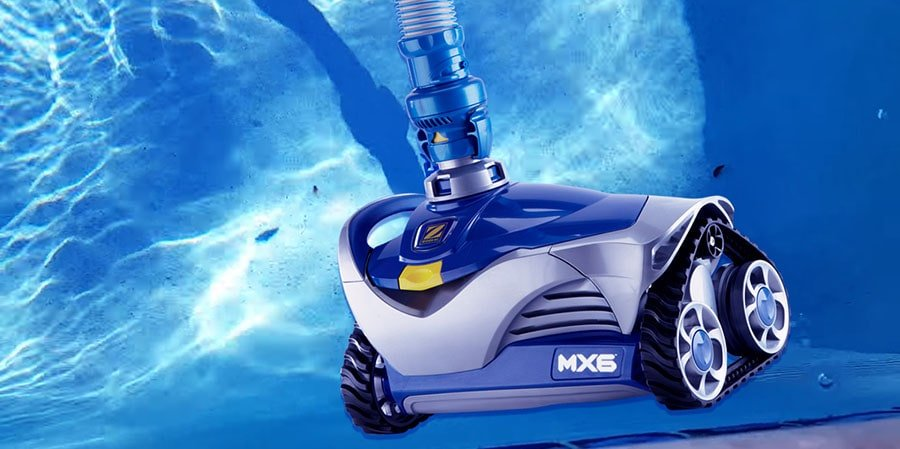 Zodiac MX6 Suction-Side Pool Cleaner in the pool.